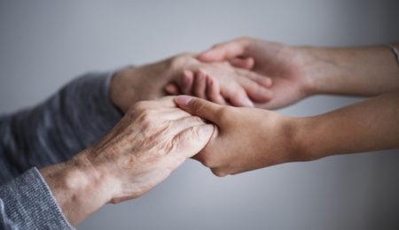ajuda, mãos, terceira idade