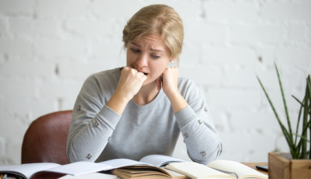 Estudante com ansiedade
